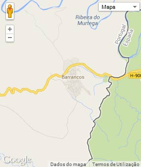 Mapa do município de Barrancos