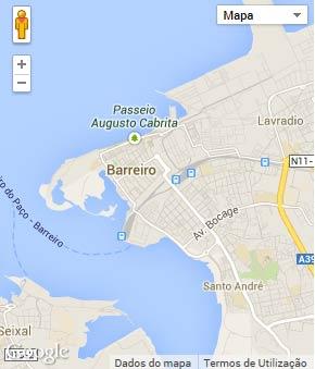 Mapa do município de Barreiro