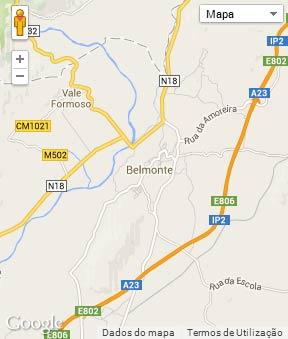 Mapa do município de Belmonte