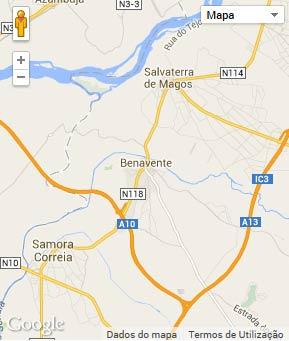 Mapa do município de Benavente
