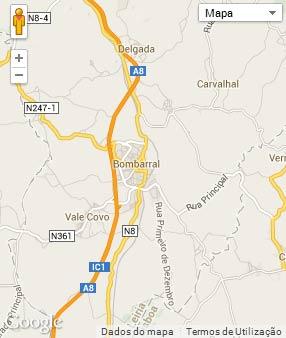 Mapa do município de Bombarral