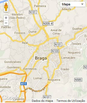Mapa do município de Braga