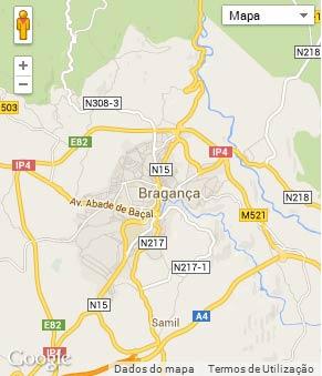 Mapa do município de Bragança