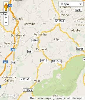 Mapa do município de Cadaval