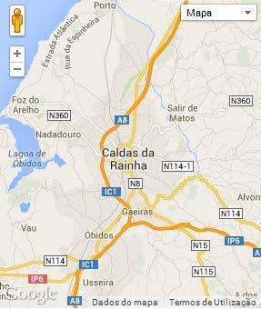Mapa do município de Caldas da Rainha