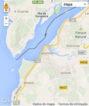 Mapa do município de Caminha