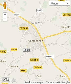 Mapa do município de Cantanhede