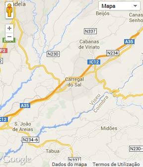 Mapa do município de Carregal do Sal