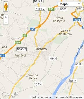 Mapa do município de Cartaxo