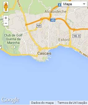 Mapa do município de Cascais