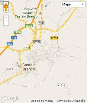 Mapa do município de Castelo Branco