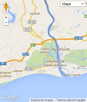 mapa do concelho de castro marim Concelho de Castro Marim mapa do concelho de castro marim