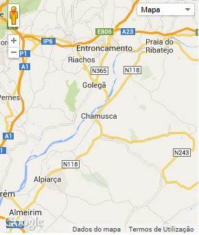 Mapa do município de Chamusca