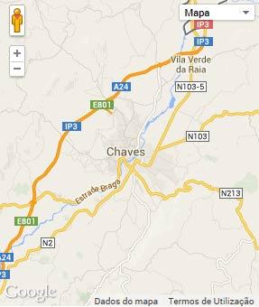 Mapa do município de Chaves