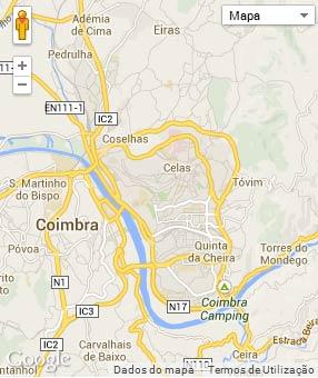 Mapa do município de Coimbra