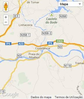 Mapa do município de Constância