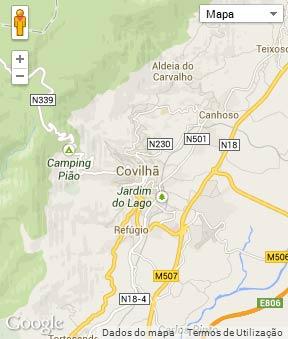 Mapa do município de Covilhã