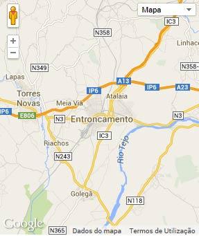 Mapa do município de Entroncamento