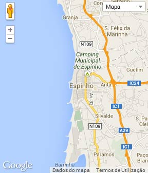 Mapa do município de Espinho