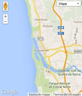 Mapa do município de Esposende