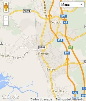 Mapa do município de Estarreja