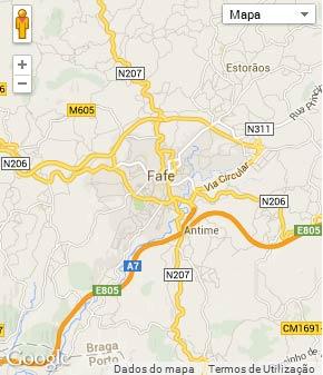Mapa do município de Fafe