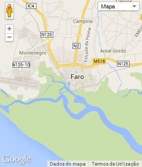 Mapa do município de Faro
