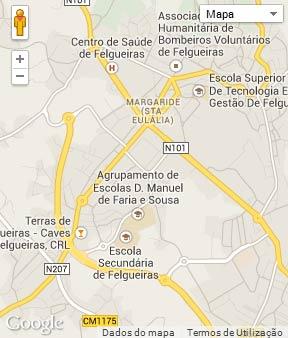 Mapa do município de Felgueiras