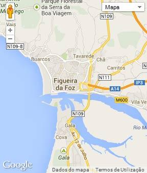 Mapa do município de Figueira da Foz