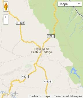 Mapa do município de Figueira de Castelo Rodrigo