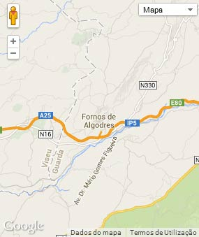 Mapa do município de Fornos de Algodres