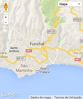 Mapa do município de Funchal