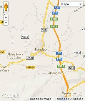 Mapa do município de Fundão