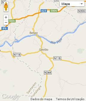 Mapa do município de Gavião