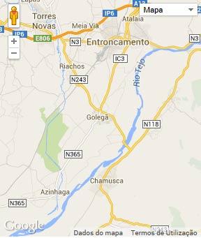 Mapa do município de Golegã