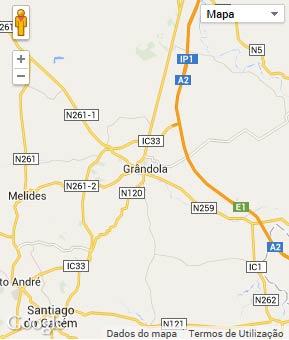 Mapa do município de Grândola