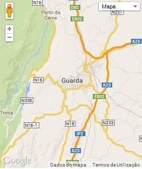 Mapa do município de Guarda