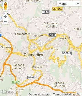 Mapa do município de Guimarães