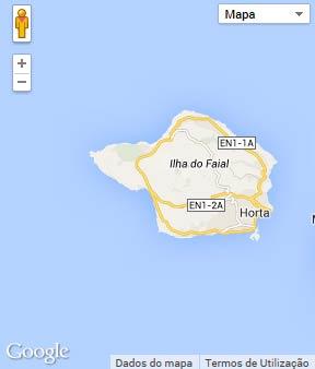 Mapa do município de Horta