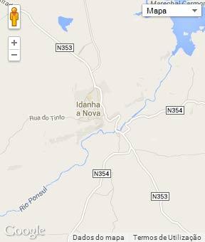 Mapa do município de Idanha-a-Nova
