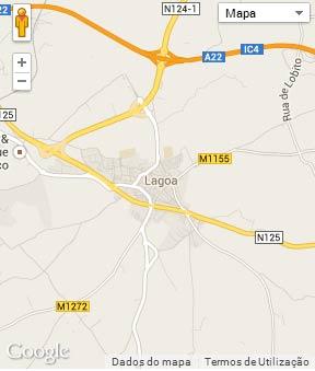 Mapa do município de Lagoa (Algarve)