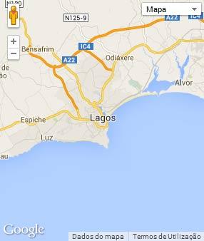 Mapa do município de Lagos