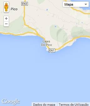 Mapa do município de Lajes do Pico
