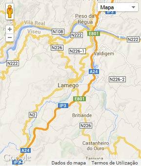 Mapa do município de Lamego