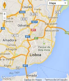 Mapa do município de Lisboa