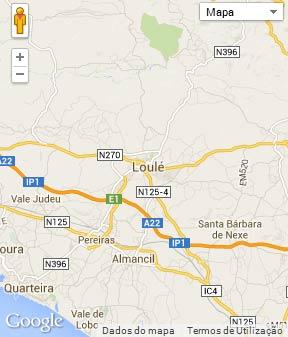 Mapa do município de Loulé