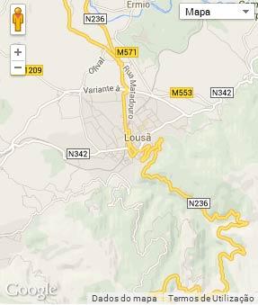 Mapa do município de Lousã