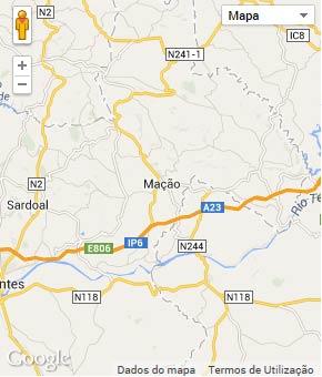 Mapa do município de Mação