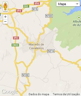 Mapa do município de Macedo de Cavaleiros