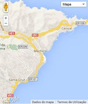 Mapa do município de Machico